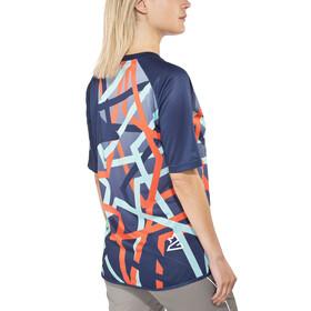 Zimtstern Katza Koszulka kolarska, krótki rękaw Kobiety niebieski/kolorowy